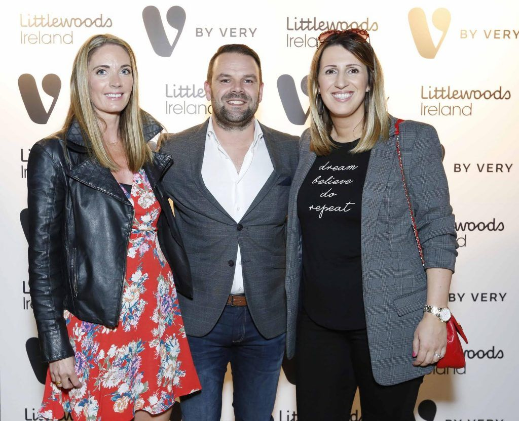 Kara Heriot, Geoff Scully and Karen Nason at the launch of the V by Very Autumn/Winter range at Smock Alley Theatre (20th September 2017), available exclusively to LittlewoodsIreland.ie - Photo: Sasko Lazarov/Photocall Ireland
