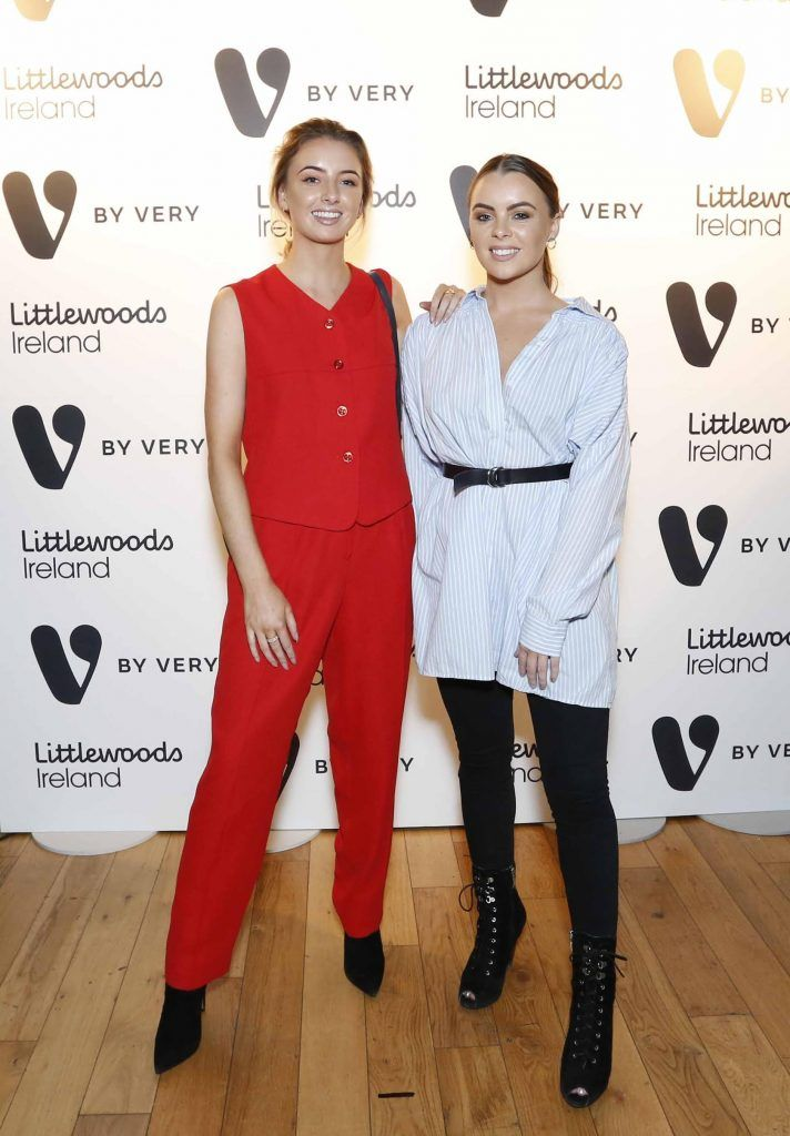 Aoife McNamara and Fiona McNamara at the launch of the V by Very Autumn/Winter range at Smock Alley Theatre (20th September 2017), available exclusively to LittlewoodsIreland.ie - Photo: Sasko Lazarov/Photocall Ireland