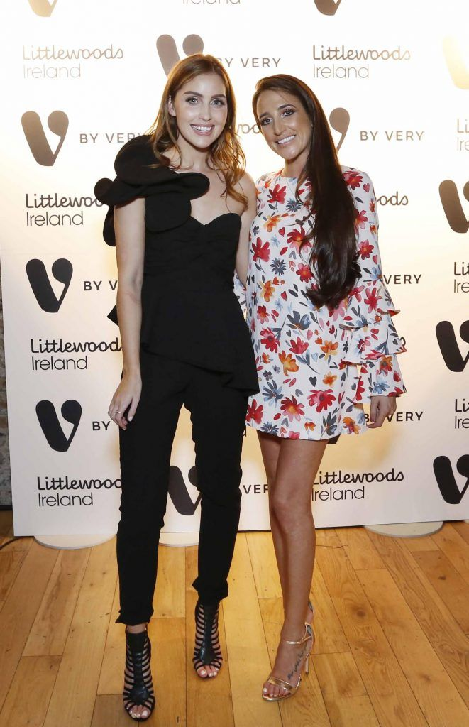 Tara O'Farrell and Nimah Kuzbari at the launch of the V by Very Autumn/Winter range at Smock Alley Theatre (20th September 2017), available exclusively to LittlewoodsIreland.ie - Photo: Sasko Lazarov/Photocall Ireland