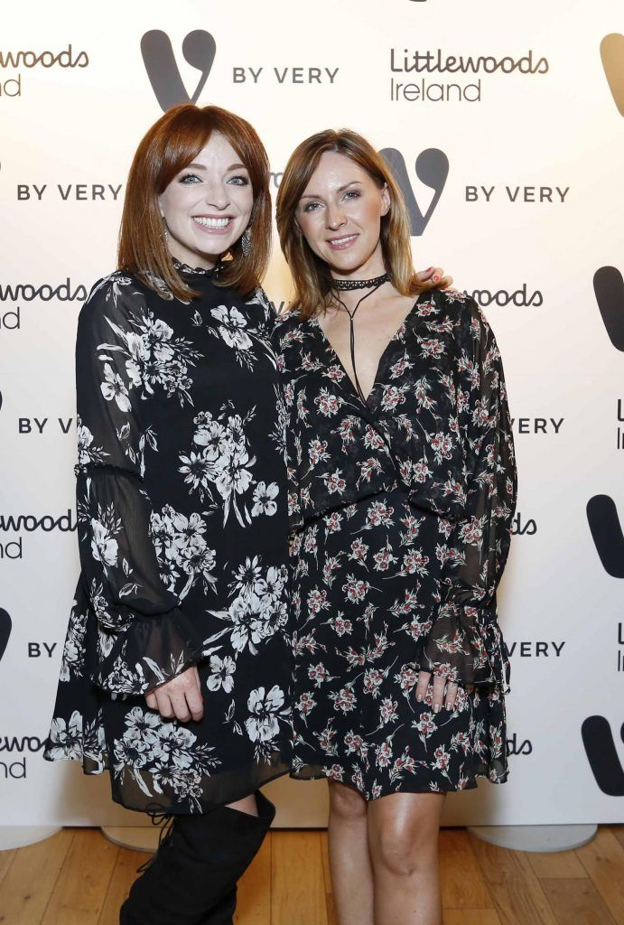 Irene O'Brien and Fiona Lee at the launch of the V by Very Autumn/Winter range at Smock Alley Theatre (20th September 2017), available exclusively to LittlewoodsIreland.ie - Photo: Sasko Lazarov/Photocall Ireland