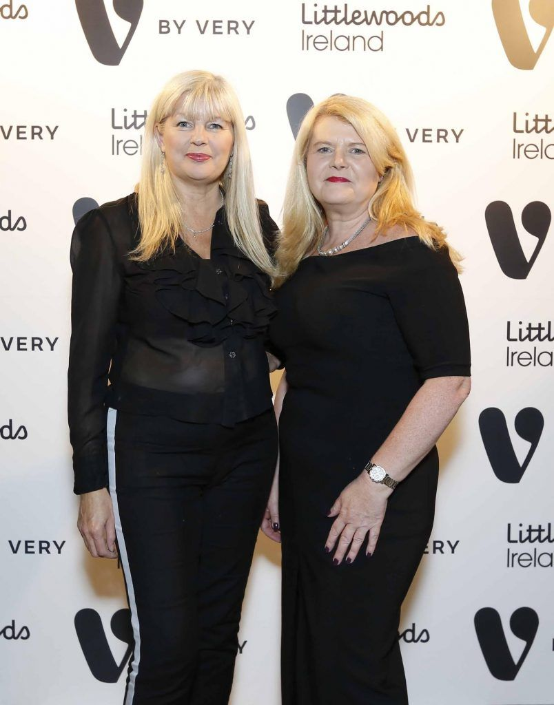 Lorraine Worth and Liz Doyle at the launch of the V by Very Autumn/Winter range at Smock Alley Theatre (20th September 2017), available exclusively to LittlewoodsIreland.ie - Photo: Sasko Lazarov/Photocall Ireland