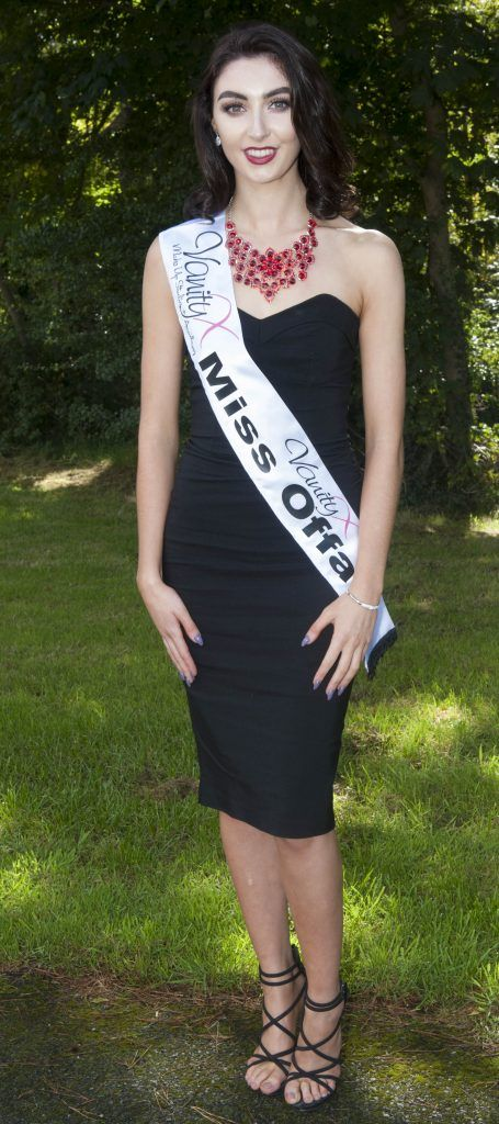 Zoe Coady, Miss Offaly. Age 20 and from Tullamore, Offaly. She works for Boylesports and models part time, Zoe has a metal spine. Pic by Patrick O'Leary