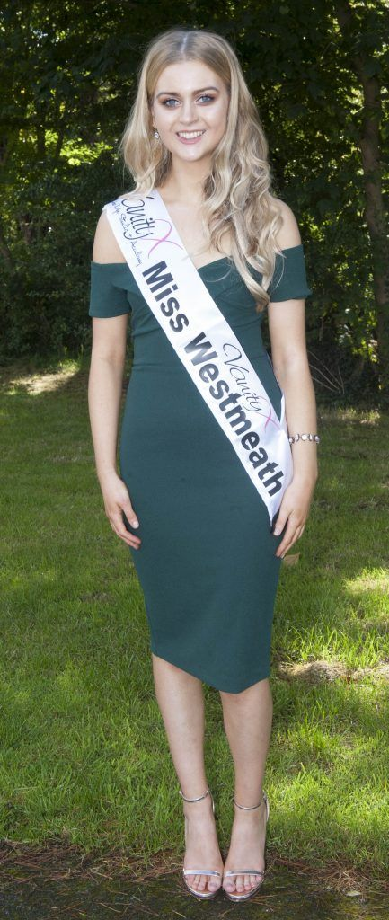Eva Dunning, Miss Westmeath. Age 20 and from Moate, Co Westmeath. She is in her final year of law and works part time teaching English. Pic Patrick O'Leary