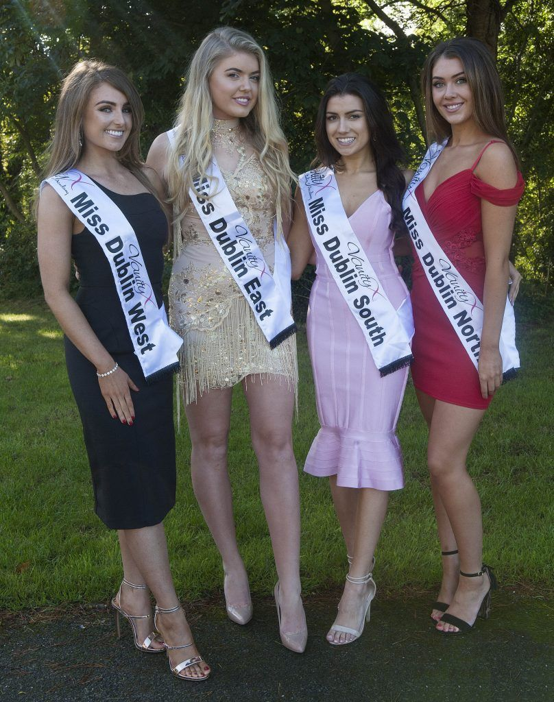 Annemarie Fay, Miss Dublin West. Age 26 and from Clondalkin. Genevieve Gleeson, Miss Dublin East. Age 22 and from Clontarf, Dublin. Zoe Sohun, Miss Dublin South. Age 20, originally from Cork but living in Dublin 4. Vanessa Boland, Miss Dublin North. Age 21 from Finglas, Dublin. Pic Patrick O'Leary
