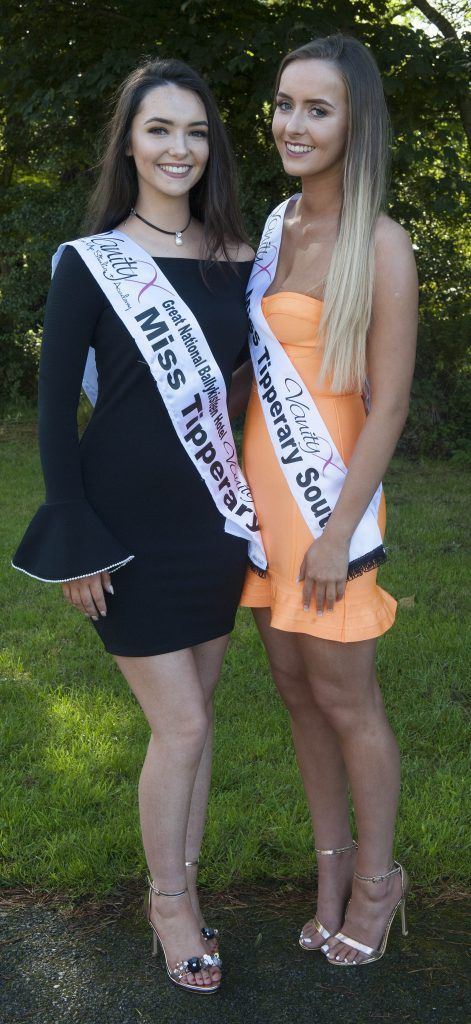 Cailin Duggan (L), Miss Tipperary. Age 20 and from Cragg, Tipperary. She is currently studying video and sound technology in Limerick Institute of technology. Jade Walsh, Miss Tipperary South from Carrick on Suir, Co. Tipperary. Age 18 and is a full time student. Photo by Patrick O'Leary