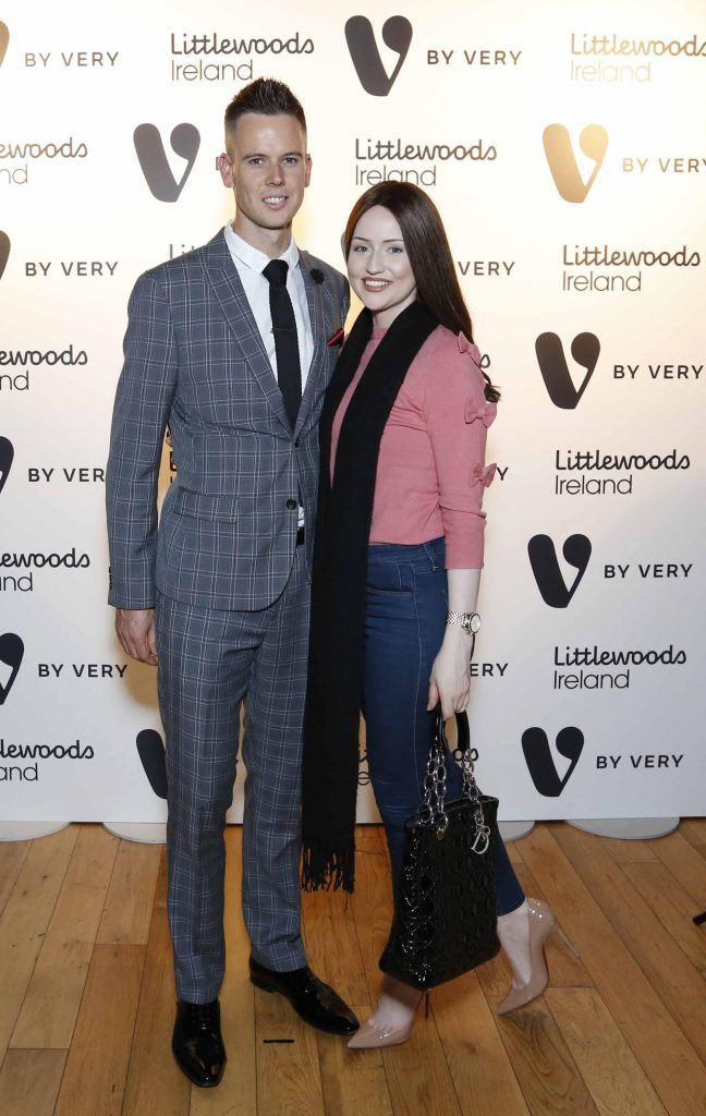 Chris Kavanagh and Fiona Foley at the launch of the V by Very Autumn/Winter range at Smock Alley Theatre (20th September 2017), available exclusively to LittlewoodsIreland.ie - Photo: Sasko Lazarov/Photocall Ireland