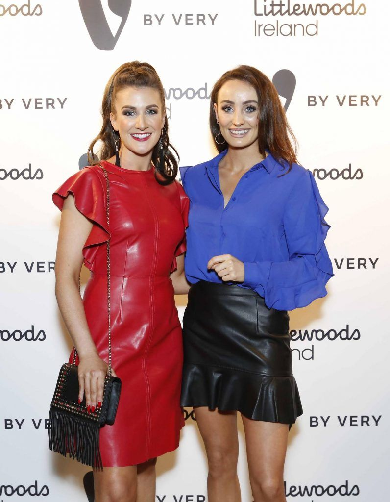 Rebecca Rose Quigley and Sinead de Butleir at the launch of the V by Very Autumn/Winter range at Smock Alley Theatre (20th September 2017), available exclusively to LittlewoodsIreland.ie - Photo: Sasko Lazarov/Photocall Ireland