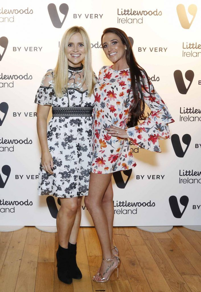 Karen Koster and Nimah Kuzbari at the launch of the V by Very Autumn/Winter range at Smock Alley Theatre (20th September 2017), available exclusively to LittlewoodsIreland.ie - Photo: Sasko Lazarov/Photocall Ireland