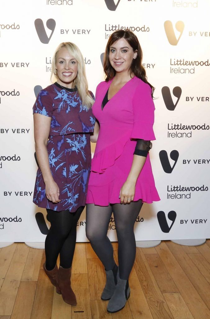 Rachel Irwin and Gillian Fitzpatrick at the launch of the V by Very Autumn/Winter range at Smock Alley Theatre (20th September 2017), available exclusively to LittlewoodsIreland.ie - Photo: Sasko Lazarov/Photocall Ireland