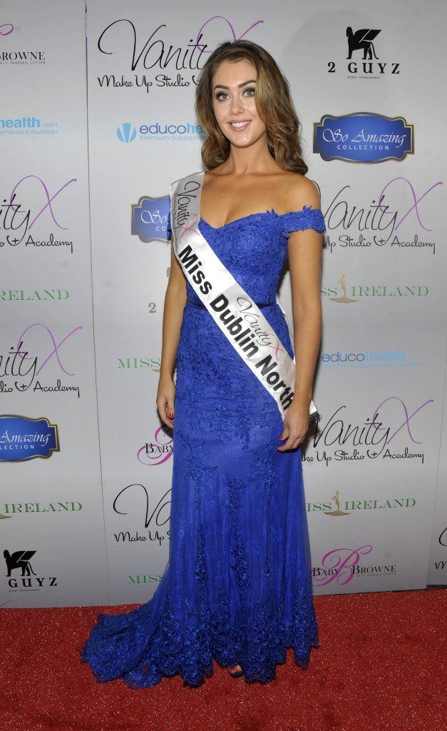 Miss Dublin North Vanessa Boland at the Best of Irish Beauty and Brains Vie For Miss Ireland 2017 Victory. Photo by Patrick O'Leary