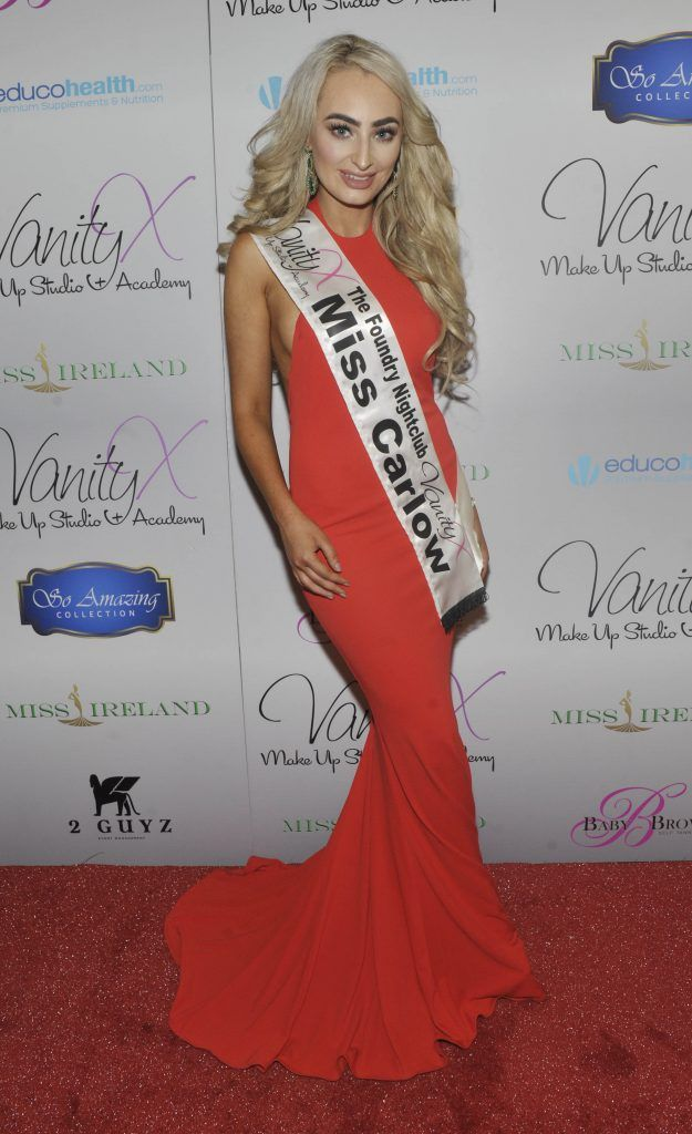 Miss Carlow Derbhla Kelly at the Best of Irish Beauty and Brains Vie For Miss Ireland 2017 Victory. Photo by Patrick O'Leary