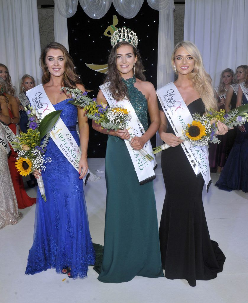 Pictured from left to right: Dublin North Vanessa Boland, Miss Ireland 2017 Lauren McDonagh and Miss Cork Tara O Leary. Photo by Patrick O'Leary