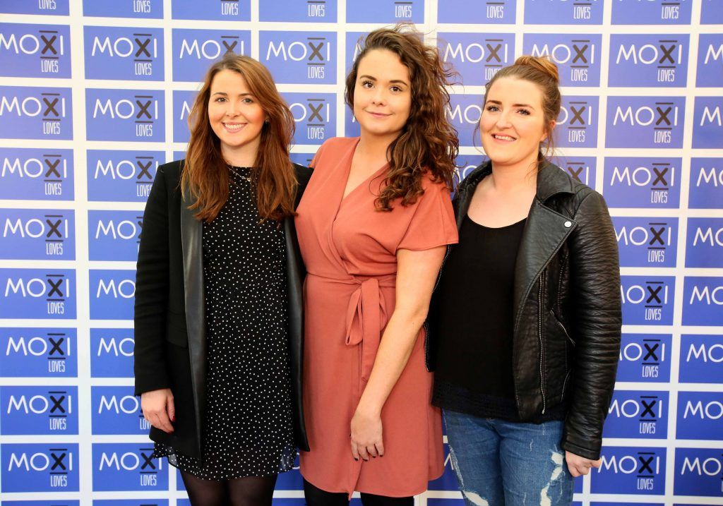 Kate O'Donoghue, Becky O'Kelly and Anna Mooney at the launch for the latest innovation from Moxi Loves. Tan Aid,  a handy little tan removing wipe, the perfect solution to any tanning disasters. PHOTO: Mark Stedman