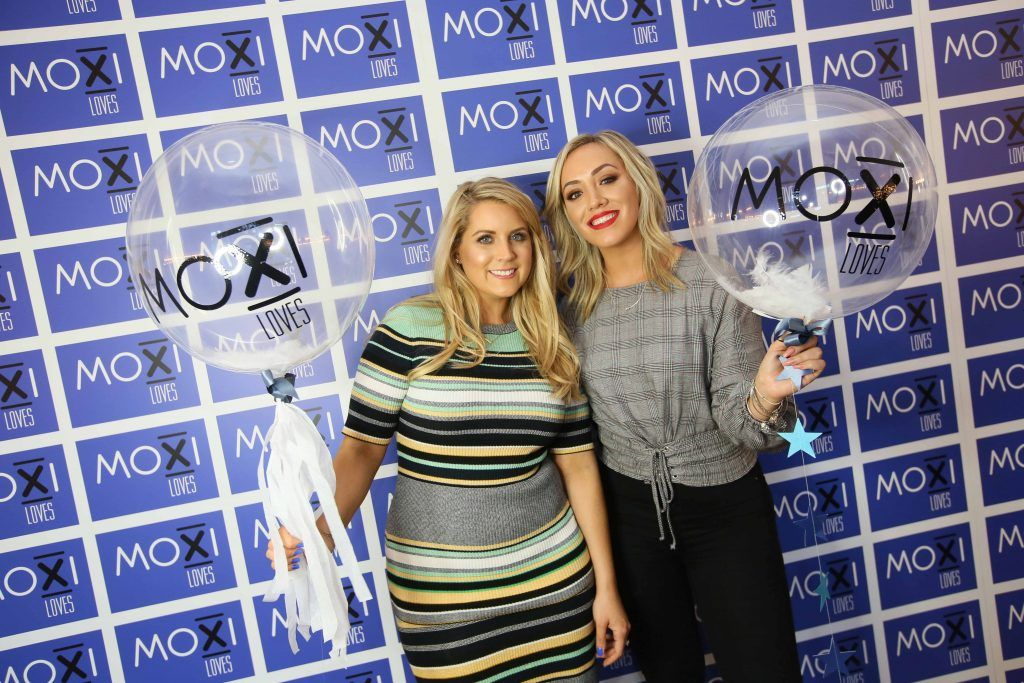 Pamela Laird, left, and Ally McGinn at the launch for the latest innovation from Moxi Loves. Tan Aid,  a handy little tan removing wipe, the perfect solution to any tanning disasters. PHOTO: Mark Stedman