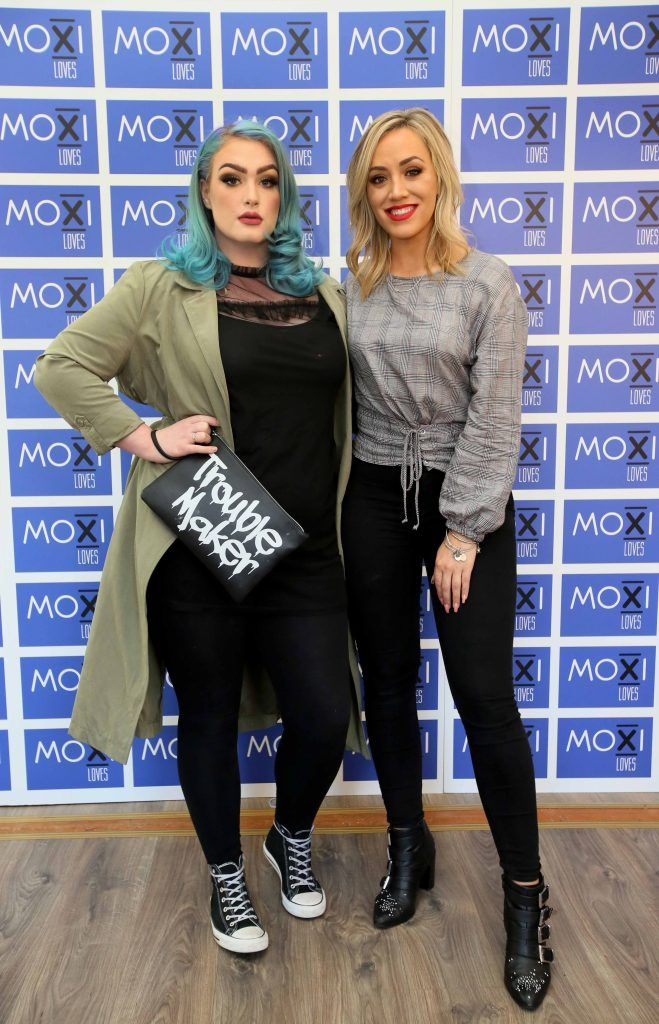 Bella, left, and Ally McGinn at the launch for the latest innovation from Moxi Loves. Tan Aid,  a handy little tan removing wipe, the perfect solution to any tanning disasters. PHOTO: Mark Stedman