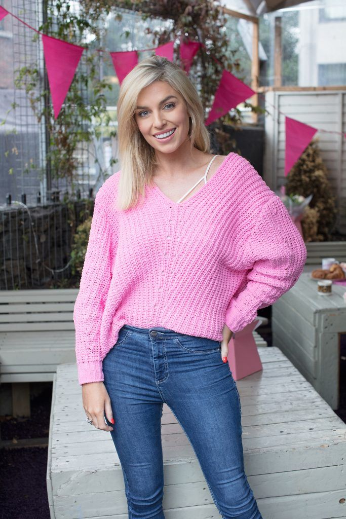 Pippa O'Connor pictured at the launch of Centra's Cups Against Cancer event in the Lock 6 Cafe, Dublin. Photo: Anthony Woods