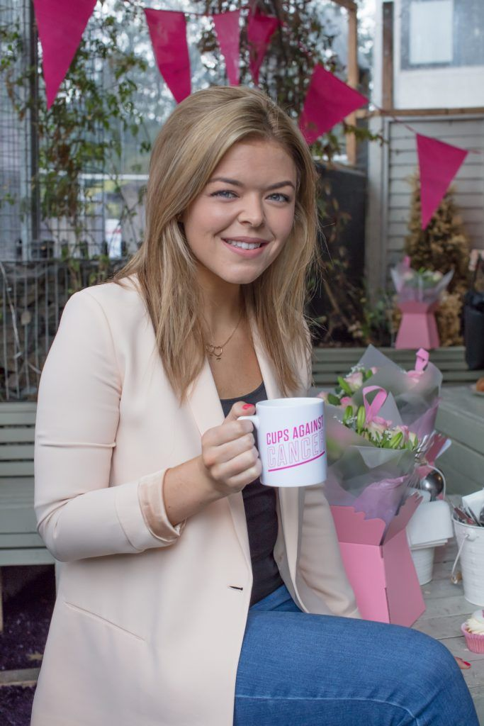 Doireann Garrihy pictured at the launch of Centra's Cups Against Cancer event in the Lock 6 Cafe, Dublin. Photo: Anthony Woods