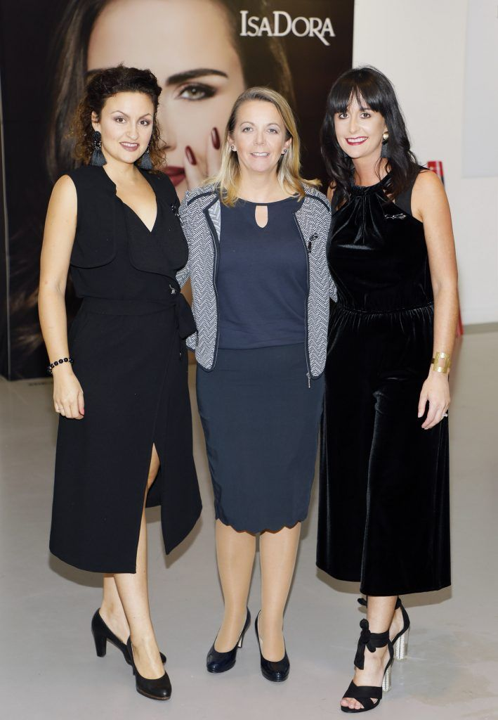 Silvia Lukkarinen, Liz Clarke and Jenni Fenlon at the REdiscover IsaDora event in the RHA -photo Kieran Harnett