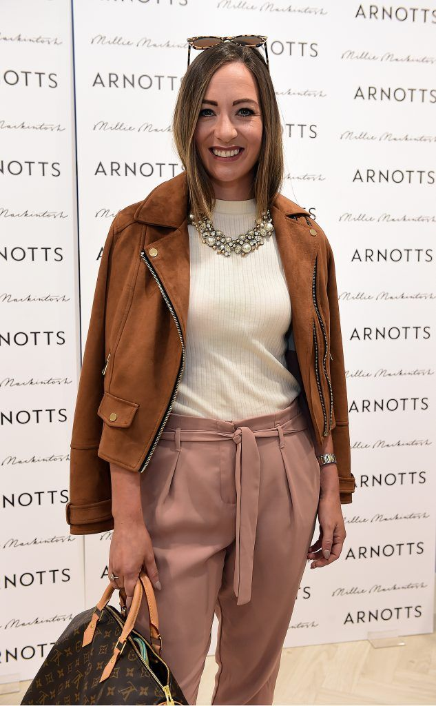 Naomi Clarke pictured as Millie Mackintosh launched her new collection at Arnotts Style Sessions. Photos by Michael Chester
