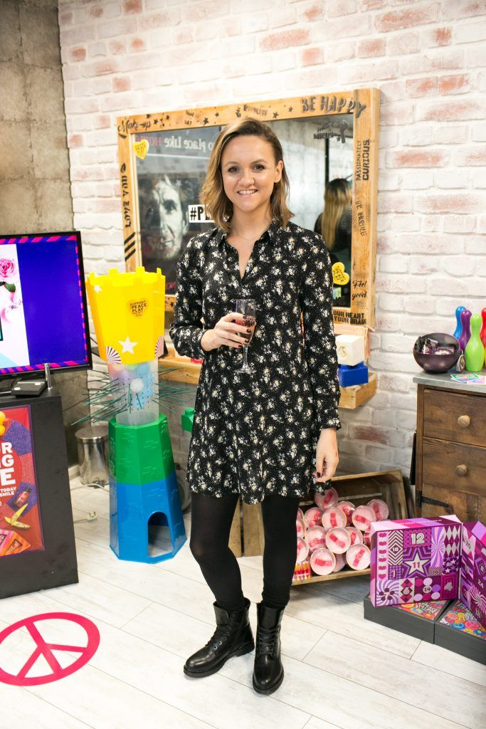 Kate O'Reilly pictured in the flagship store on Grafton Street, Dublin 2 on October 4th. Guests enjoyed the unveiling of The Body Shop's Christmas campaign #PlayforPeace in aid of young Syrian refugees and tried out their new Christmas product range