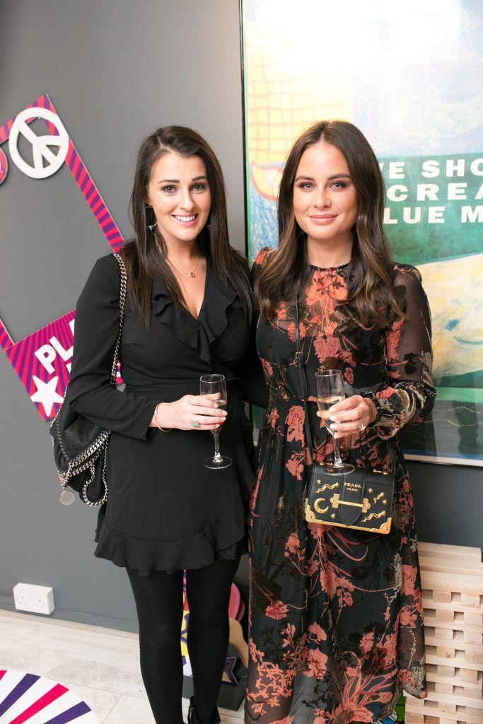 Alexandra Mc Keever and Jodie Wood pictured in the flagship store on Grafton Street, Dublin 2 on October 4th. Guests enjoyed the unveiling of The Body Shop's Christmas campaign #PlayforPeace in aid of young Syrian refugees and tried out their new Christmas product range