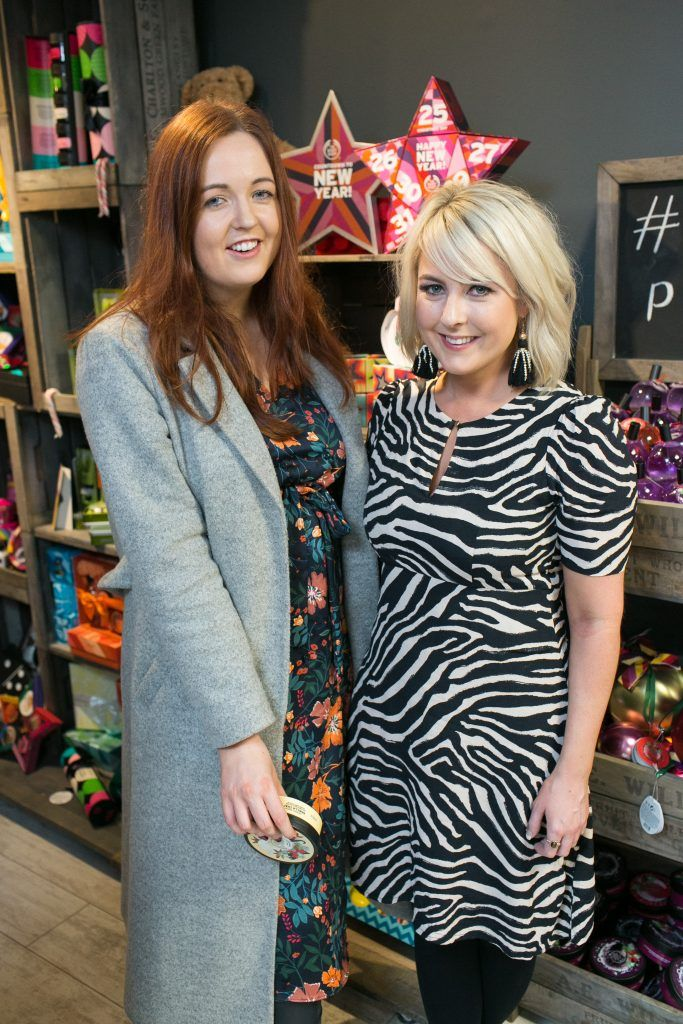 Denise Smith and Rebecca Brady pictured in the flagship store on Grafton Street, Dublin 2 on October 4th. Guests enjoyed the unveiling of The Body Shop's Christmas campaign #PlayforPeace in aid of young Syrian refugees and tried out their new Christmas product range