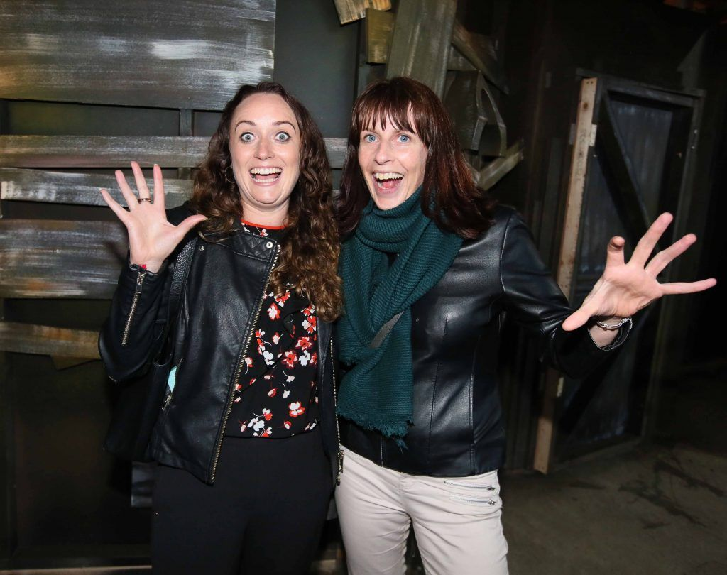 Kayleigh O'Donoghue and Eimear O'Grady at the launch of The Nightmare Realm, which takes place at The RDS until November 5. Photo: Mark Stedman