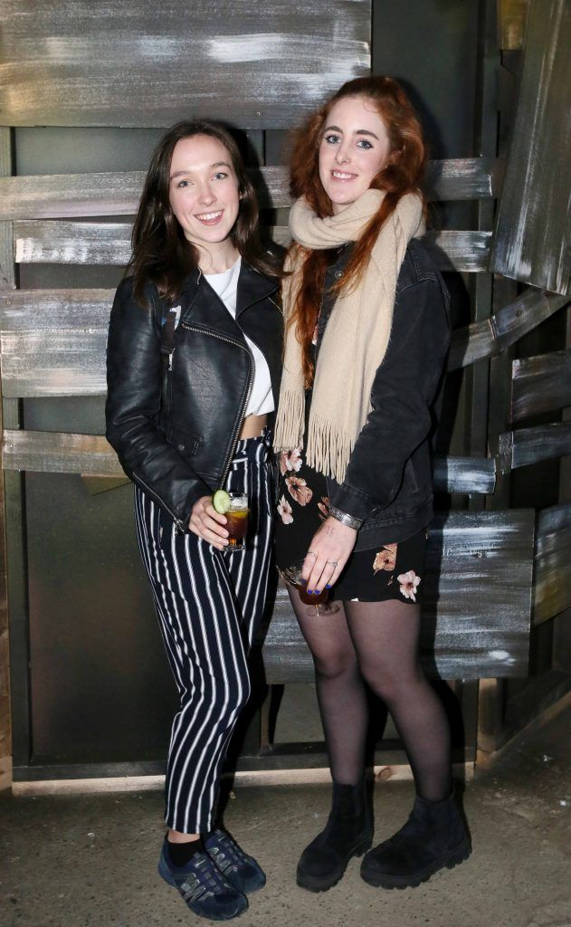 Aine Leech and Kate Murphy at the launch of The Nightmare Realm, which takes place at The RDS until November 5. Photo: Mark Stedman