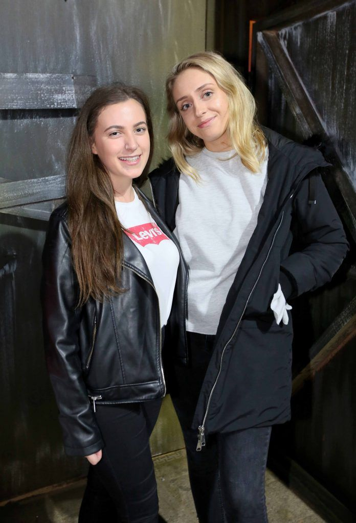 Alba Kinsella and Tara Byrnes at the launch of The Nightmare Realm, which takes place at The RDS until November 5. Photo: Mark Stedman