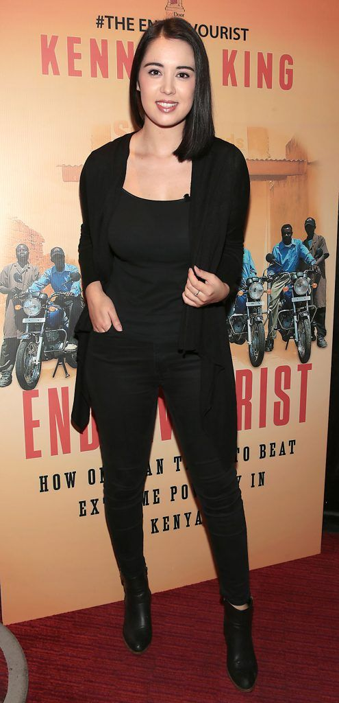 Laura O Shea at the launch of Kenneth King's book The Endeavourist at Lillies Bordello, Dublin. Pic: Brian McEvoy