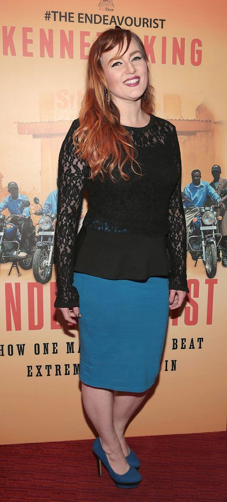 Allison Saul at the launch of Kenneth King's book The Endeavourist at Lillies Bordello, Dublin. Pic: Brian McEvoy