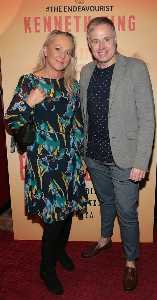 Eva Orsmond and Paul McKeon at the launch of Kenneth King's book The Endeavourist at Lillies Bordello, Dublin. Pic: Brian McEvoy