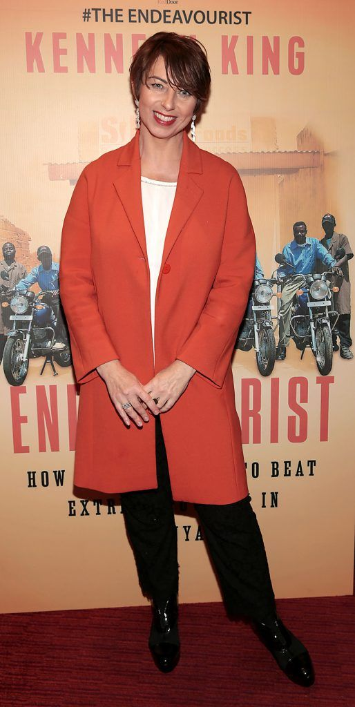 Roisin Ni Mhorda at the launch of Kenneth King's book The Endeavourist at Lillies Bordello, Dublin. Pic: Brian McEvoy