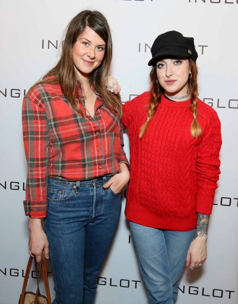 """Sophie DeVere, left, and Leanne Woodfall at the launch of Inglot Christmas Gift Guide and new """"Italian Kiss Collection"""" hosted by @janeinglot in House Dublin. Photo: Mark Stedman"""