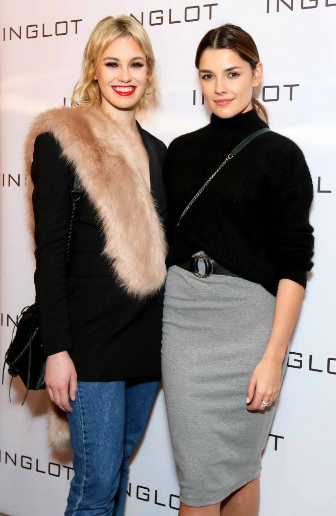 """Caoimhe O'Dwyer, left, and Kelly Horrigan at the launch of Inglot Christmas Gift Guide and new """"Italian Kiss Collection"""" hosted by @janeinglot in House Dublin. Photo: Mark Stedman"""