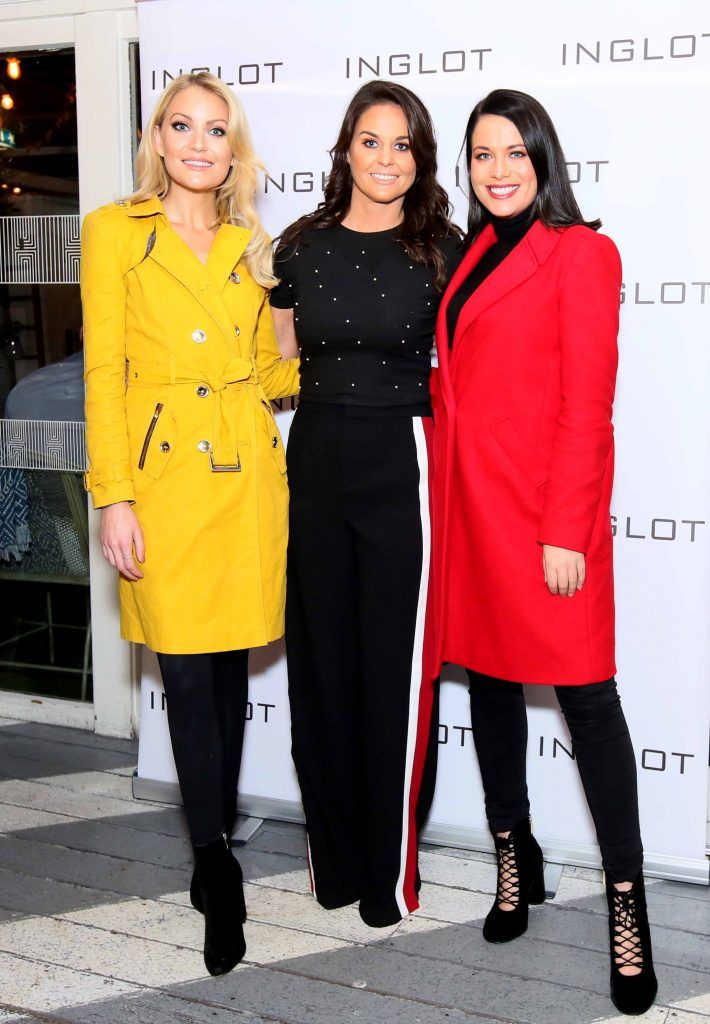 """Kerri Nicole, Jane Swarbrigg and Michelle McGrath at the launch of Inglot Christmas Gift Guide and new """"Italian Kiss Collection"""" hosted by @janeinglot in House Dublin. Photo: Mark Stedman"""