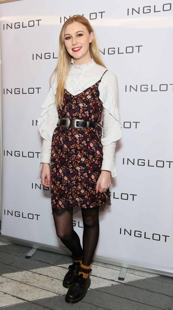 """Eadaoin Fitzmaurice at the launch of Inglot Christmas Gift Guide and new """"Italian Kiss Collection"""" hosted by @janeinglot in House Dublin. Photo: Mark Stedman"""