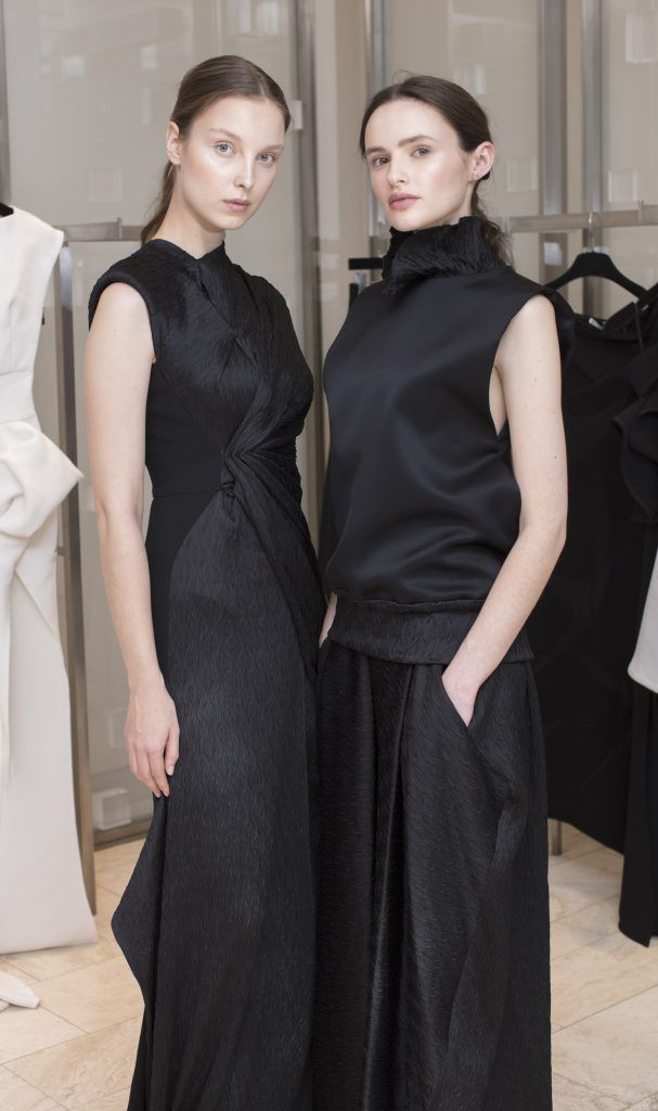 Anastasia Kuchynskaya & Maria Traynor pictured at the Maticevski designer event at Brown Thomas Dublin. Australian designer Toni Maticevski met with guests and previewed his stunning new S/S '18 collection in The Designer Rooms. Photo: Anthony Woods