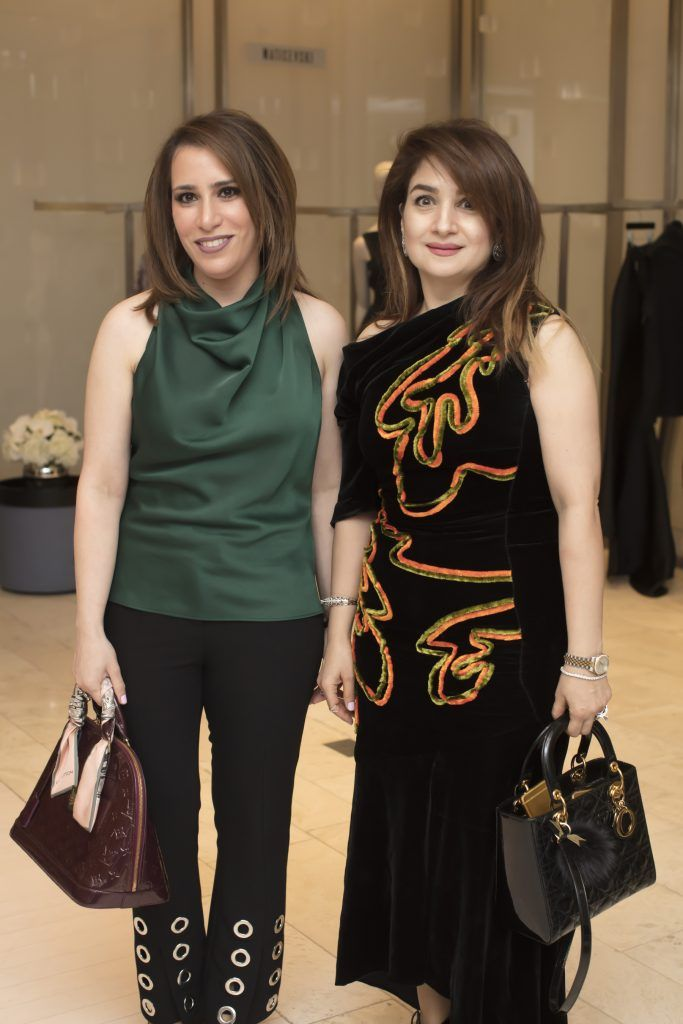 Alyai Faiq & Zena Al Helee pictured at the Maticevski designer event at Brown Thomas Dublin. Australian designer Toni Maticevski met with guests and previewed his stunning new S/S '18 collection in The Designer Rooms. Photo: Anthony Woods