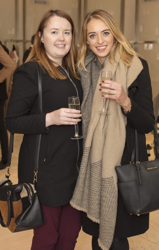 Natalie Sweeney & Laura Roche pictured at the Maticevski designer event at Brown Thomas Dublin. Australian designer Toni Maticevski met with guests and previewed his stunning new S/S '18 collection in The Designer Rooms. Photo: Anthony Woods