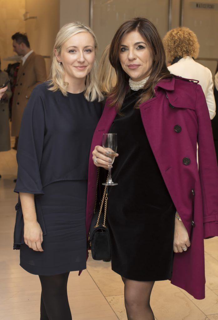 Orla McClenahan & Sabrina Macari pictured at the Maticevski designer event at Brown Thomas Dublin. Australian designer Toni Maticevski met with guests and previewed his stunning new S/S '18 collection in The Designer Rooms. Photo: Anthony Woods