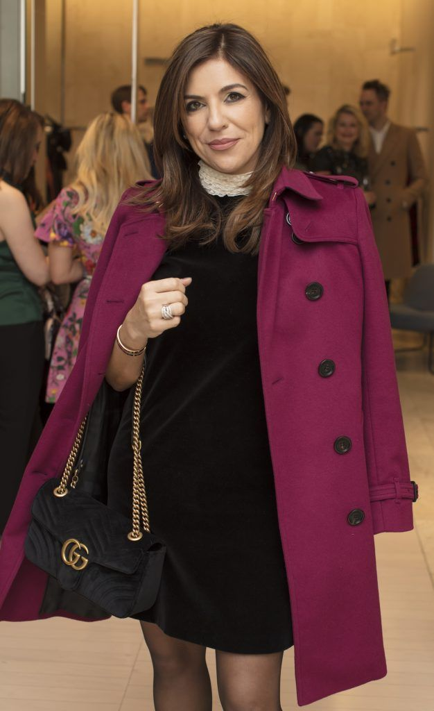 Sabrina Macari pictured at the Maticevski designer event at Brown Thomas Dublin. Australian designer Toni Maticevski met with guests and previewed his stunning new S/S '18 collection in The Designer Rooms. Photo: Anthony Woods