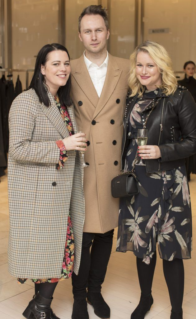 Corina Gaffey, Toni Maticevski & Lorna Weightman pictured at the Maticevski designer event at Brown Thomas Dublin. Australian designer Toni Maticevski met with guests and previewed his stunning new S/S '18 collection in The Designer Rooms. Photo: Anthony Woods