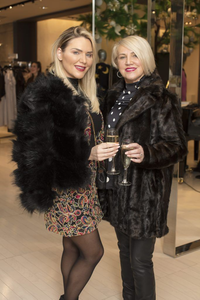 Erin & Margaret McGregor pictured at the Maticevski designer event at Brown Thomas Dublin. Australian designer Toni Maticevski met with guests and previewed his stunning new S/S '18 collection in The Designer Rooms. Photo: Anthony Woods