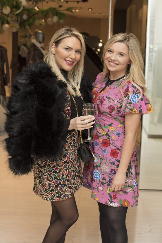 Erin McGregor & Tori Delahoyde pictured at the Maticevski designer event at Brown Thomas Dublin. Australian designer Toni Maticevski met with guests and previewed his stunning new S/S '18 collection in The Designer Rooms. Photo: Anthony Woods