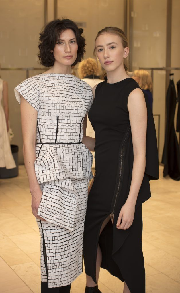 Sophie Murphy & Aine Tubridy pictured at the Maticevski designer event at Brown Thomas Dublin. Australian designer Toni Maticevski met with guests and previewed his stunning new S/S '18 collection in The Designer Rooms. Photo: Anthony Woods