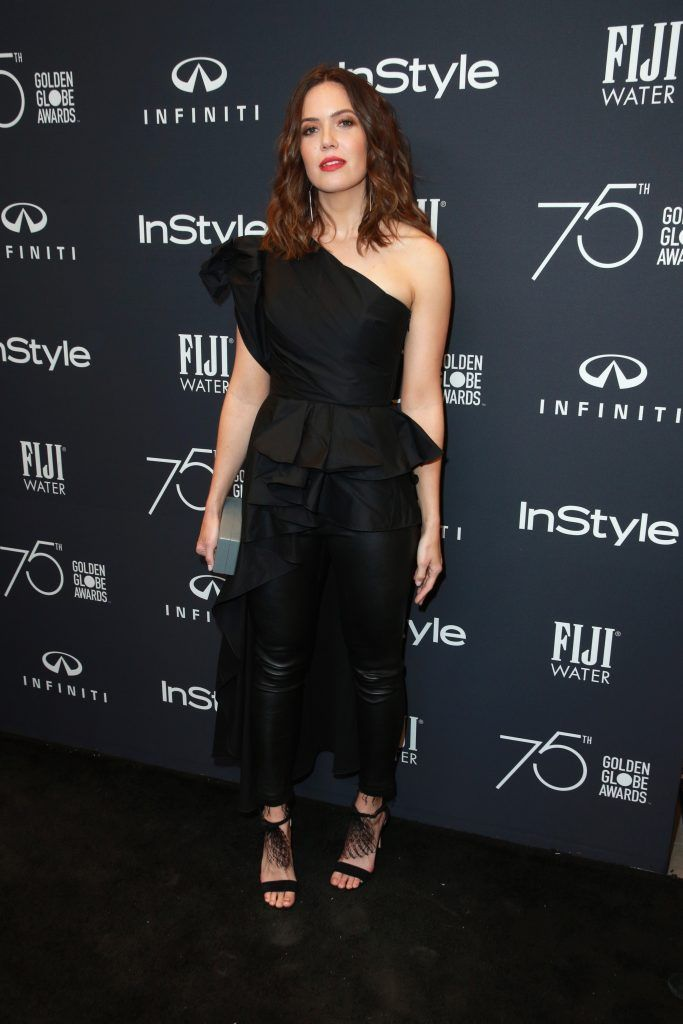 Mandy Moore attends the Hollywood Foreign Press Association and InStyle celebrate the 75th Anniversary of The Golden Globe Awards at Catch LA on November 15, 2017 in West Hollywood, California.  (Photo by Rich Fury/Getty Images)