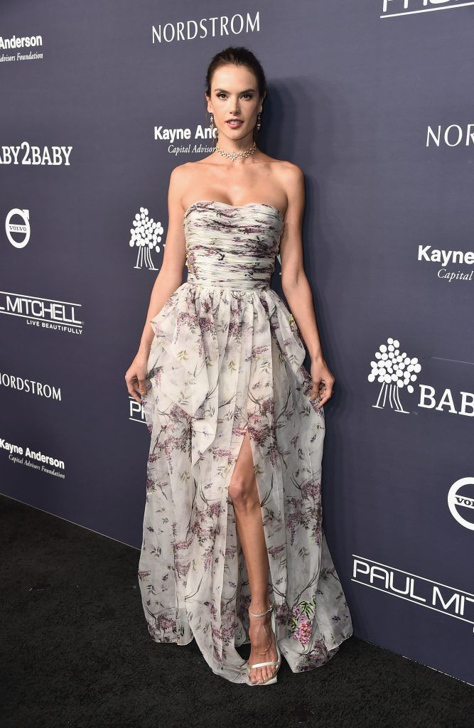 Alessandra Ambrosio attends the 2017 Baby2Baby Gala at 3LABS on November 11, 2017 in Culver City, California.  (Photo by Frazer Harrison/Getty Images)