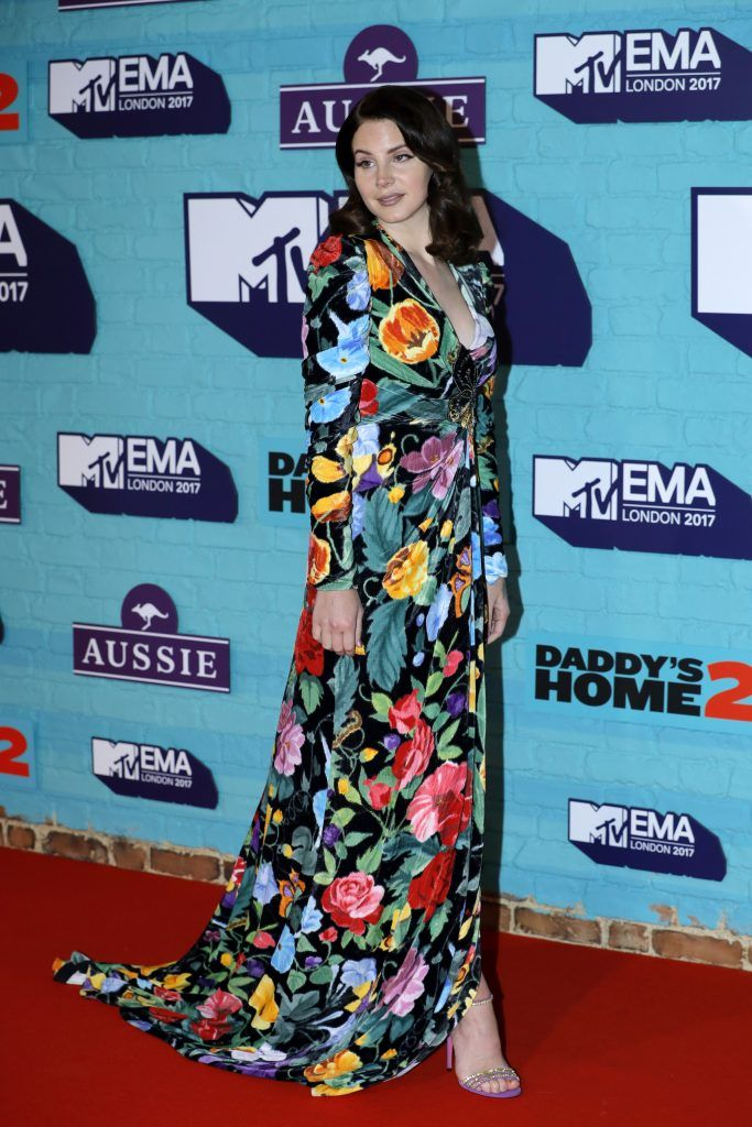 Lana Del Rey attends the MTV EMAs 2017 held at The SSE Arena, Wembley on November 12, 2017 in London, England.  (Photo by Andreas Rentz/Getty Images for MTV)