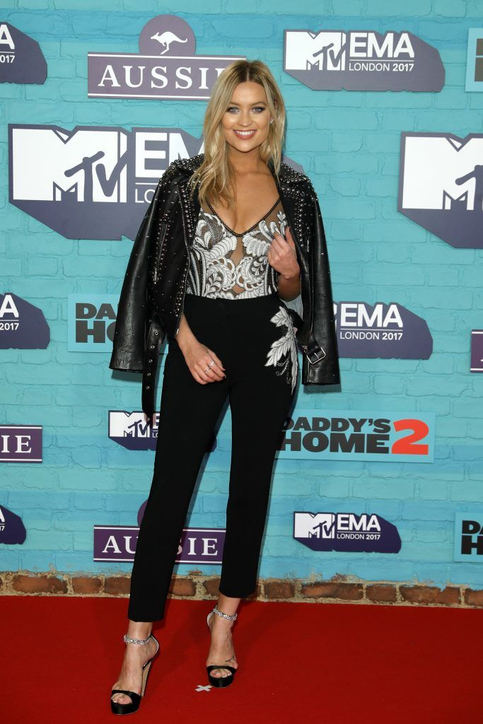 Laura Whitmore attends the MTV EMAs 2017 held at The SSE Arena, Wembley on November 12, 2017 in London, England.  (Photo by Andreas Rentz/Getty Images for MTV)